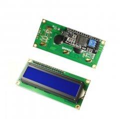 1602 LCD Blauw met backlight en IIC/I2C  adapter