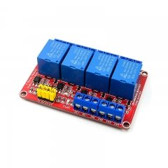 4 channel 5V relay optocoupler isolation Red board